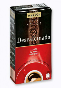 MARKUS Decafeinado (100% Tueste Natural) 250 г, в зернах, без кофеина