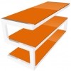 NorStone Design Esse Glossy white and orange glass